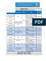 Cronograma Del Curso de ISO 9001_2008 Fundamentación de Un SGC