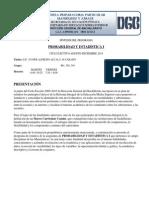 Síntesis Del Programaprobabilidad y Estadistica i
