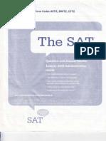 SAT I Test January 2010