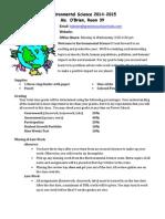 environmental science syllabus 2014