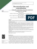 Decentralization and Centralization