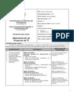 n726 Administracion de Proyectos de TI