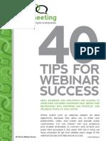 40 Tips for Webinar Success Final