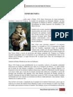 Biografia San Antonio de Padua