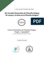 VII Jornadas de Filosofia Antigua. Rosario 2014. CIRCULAR 4.pdf