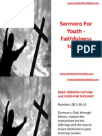 Sermons for Youth - Faithfulness to God