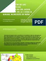 Investigación de Las Características Hidroquímicas Del Agua Subterránea