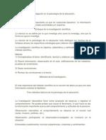 Investigación en La Psicología de La Educación.
