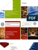Materiales Para Auditorios (Interiores)