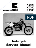 Kawasaki Kx500 Service Manual Repair 1988-2004 Kx 500