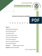 Informe. Introduión Al Desarrollo Sustentable.