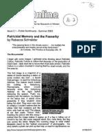 Patricidal Memory