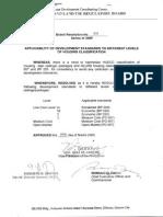 HLURB Resolution 835 - Applicability of Development Standards