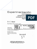 1) DC Baird - Experimentacio, Una Introducciòn a La Teorìa de Mediciones y Al Diseño de Experimentos