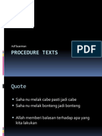 Procedure Texts