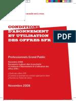 Conditions D'Abonnement Et Utilisation Des Offres SFR