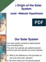 1_Origin of Universe & SolarSystem