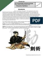 Kenjutsu Syllabus 2012