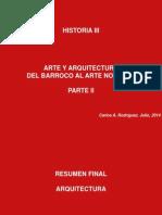 Historia III - Resumen Final Arquitectura