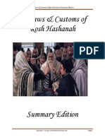 Summary of the Laws and Customs of Rosh Hashanah