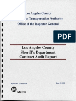 Los Angeles County Sheriff's Department Contract Audit Report May 2014