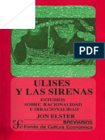 Elster, Jon. Ulises y Las Sirenas.