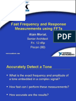 Fast Frequency and Response Measurements Using FFTs