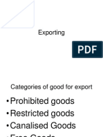 Types of Export goods