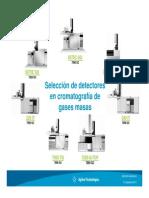 1.Selección de Detectores en Cromatografía de Gases Masas