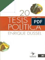 20 Tesis de Politica de Enrique Dussel