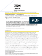 Lean Startup Vs Design Thinking