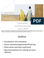 5 June EFG2014_CGrown_trends and Good Practices in Aid for Gender Equality