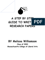 A STEP BY STEP GUIDE TO WRITING RESEARCH PAPERS