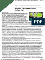 Case of Devyani Khobragade, Indian Diplomat Arrested in New York