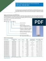 Vertically Polarized Panels - WPA-RWA-RWB Series