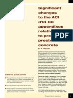 Changes ACI 318-App