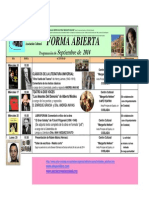 Forma Abierta Programación Septiembre 2014