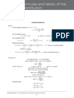 Maths Formula Sheet