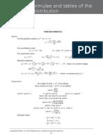 Maths Formula Sheet