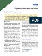 Base-Catalyzed Methylation of Phenols