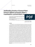 Antifeeding Activity of Several Plant Extracts Against Lymantria Dispar Larvae (2012)