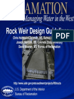 Rock Weir Research Overview 2006.10.17
