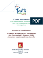 PRESS BRIEF - Youth Health Mela-What Should the Media Know About Non Communicable Diseases