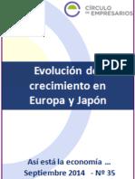 Evolución Del Crecimiento en Europa y Japón-Así Está La Economía-septiembre 2014-Círculo de Empresarios