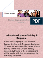 Handoop Training in Bangalore