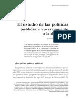 El Estudio de Las Políticas Públicas González