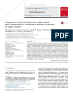 Compressed Sensing Techniques for Receiver Based Post-compensation of Transmitters Nonlinear Distortions in OFDM