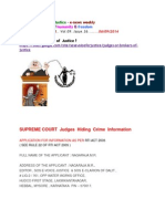 SUPREME COURT Judges Hiding Crime Information