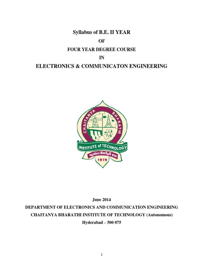 2nd Year Syllabus Ece Amplifier Bipolar Junction Transistor Electronic Circuits By Salivahanan Pdf