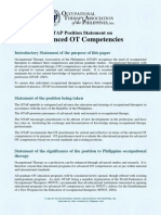 OTAP Position Statement on Advanced OT Competencies (OTAP, 2014)